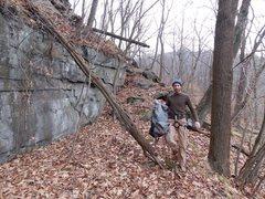 Rock Climbing Photo: Walking around to bottom of main wall