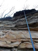 Rock Climbing Photo: Main wall, Double Chin route, another shot of me i...