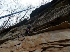 Rock Climbing Photo: Wider view of another photo.  You can see to the l...