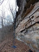 Rock Climbing Photo: Main wall at Flood Rocks, you can see this section...