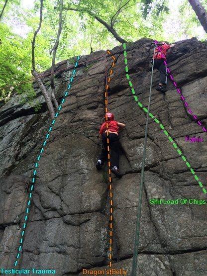 Rock Climbing Photo: Basilisk far right