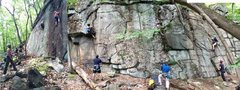 Rock Climbing Photo: Basilisk Wall. Far left is There is No Spoon, 11a....