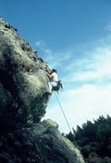 """Rock Climbing Photo: Charles Milligan on the FA of """"Charlie's Ange..."""