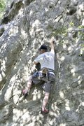 "Rock Climbing Photo: Crux of ""Moss Man"""