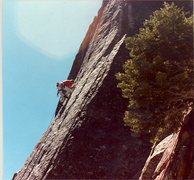 "Rock Climbing Photo: Peter Hayes nearing the crux of ""Etude"",..."