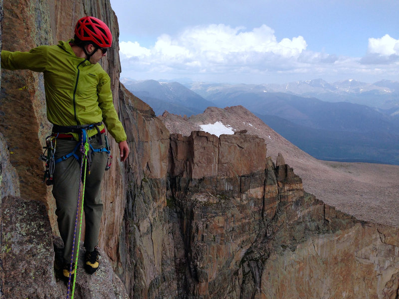 Enjoying the view from the top of pitch 6.