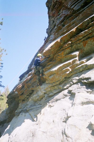 Climbing on route