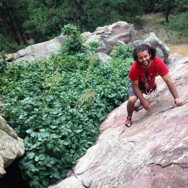 Rock Climbing Photo: Itch itch, scratch scratch.