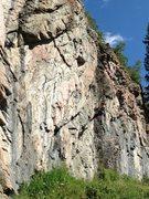 Rock Climbing Photo: Kristen rapping off.