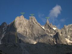 Rock Climbing Photo: The awesome sciora group, with the Diretta Integra...