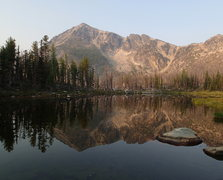 Rock Climbing Photo: Windy Peak from Windy Lake in early August.