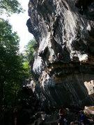 Rock Climbing Photo: Big rest just before big crux...