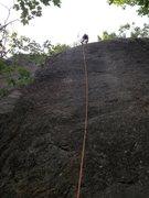 Rock Climbing Photo: Ben Miller on How Green Was My Valley 5.8+
