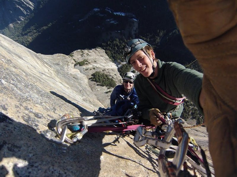 Rock Climbing Photo: me and Wayne up high on tangerine trip
