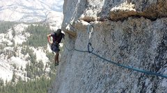 Rock Climbing Photo: 1st traverse pitch