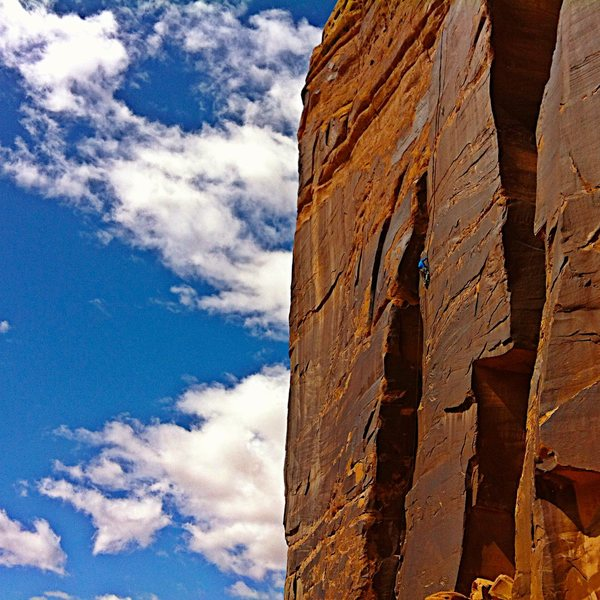 Rock Climbing Photo: Sweet line!