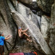 Rock Climbing Photo: I run into Noel often and got this shot of him wor...