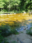 Rock Climbing Photo: A possible river crossing spot (not the crossing d...