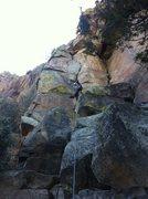 Rock Climbing Photo: Yep. Definitely a little awkward.