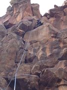 Rock Climbing Photo: Tough dihedral crack that gets super thin towards ...