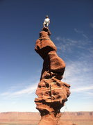 Rock Climbing Photo: fighting the wind to summit Stolen Chimney! very c...