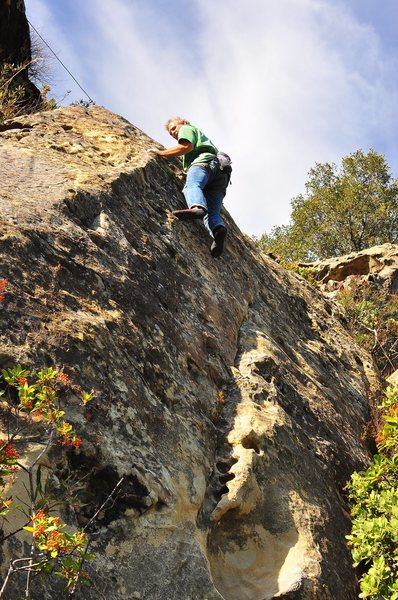 "Rock Climbing Photo: Mike Arechiga TRs ""Live Monkey Brain"""