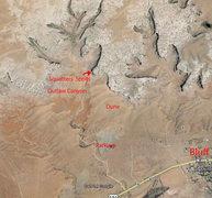 Rock Climbing Photo: Beta image from Google Earth.