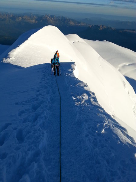 Gotta love those knife edge ridges, with a view of Switzerland.