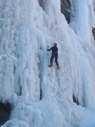 Rock Climbing Photo: The nice thing about manufactured ice is it's plen...