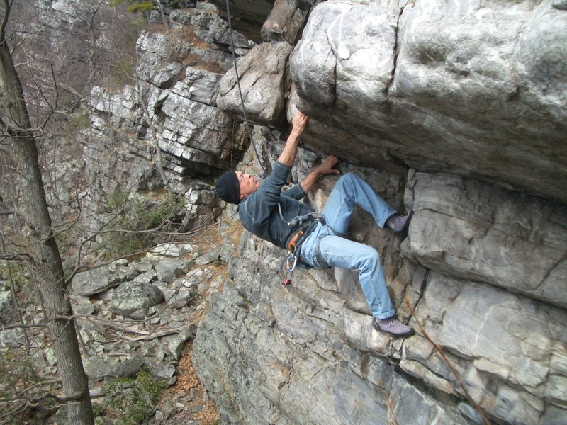 Rock Climbing Photo: I love pulling this roof.