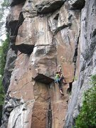 Rock Climbing Photo: ary qui entre dans la section de la 12