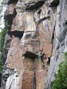 Rock Climbing Photo: ary qui entre dans la section de la 12