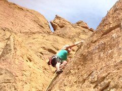 Rock Climbing Photo: Heather on the way up