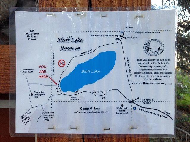 Bluff Lake Reserve Map, Big Bear South