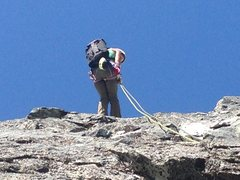 Rock Climbing Photo: Thankful for the survey tape :)