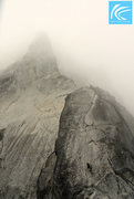 Rock Climbing Photo: Beneath the slab pitch and the Great Gendarme as r...