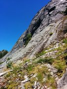 Rock Climbing Photo: From the bottom of Blueberry Buttress looking clim...
