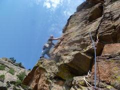 Rock Climbing Photo: Starting the arête.