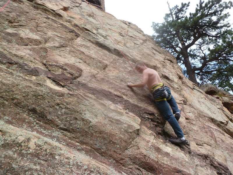 Rock Climbing Photo: Low on the route (it's a top rope route).