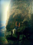 Rock Climbing Photo: Zach Anaya redpointing the Chief