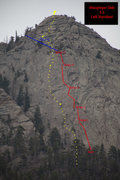 Rock Climbing Photo: This is a topo drawn on a photo submitted by Bobru...