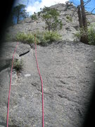 Rock Climbing Photo: The very start of the climb shown via a messed up ...