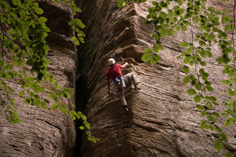 Rock Climbing Photo: On Luftikus. Photo by Scott.