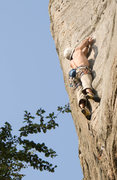 Rock Climbing Photo: At the crux of Aerete Paulette. Did not send it ye...
