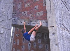 Rock Climbing Photo: It is only slightly easier in bare feet.