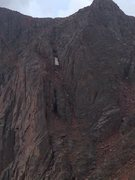 Rock Climbing Photo: Unknown couloir below approach to TA, BA, and the ...
