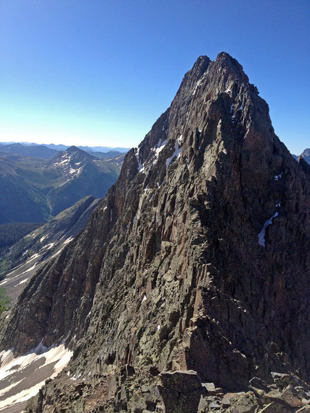 Rock Climbing Photo: Storm King from NW Ridge via Peak 13,405.