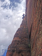 Rock Climbing Photo: Awesome pitch higher up.