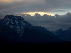 Rock Climbing Photo: Mt Moran with an interesting sunset