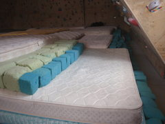Rock Climbing Photo: The angles between mattress layers was customized ...